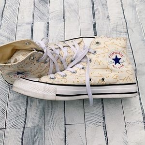 High top converse with mountain design